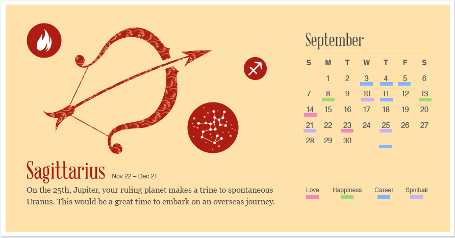 Sagittarius in September