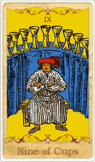 Nine of Cups Tarot Card, Rider-Waite