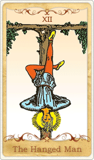 The Hanged Man Tarot Card, Rider-Waite