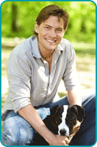 A boyfriend with Dog