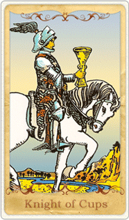 The Knight of Cups Tarot Card based on Rider-Waite