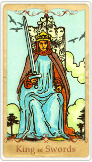 The King of Swords Tarot Card based on Rider-Waite