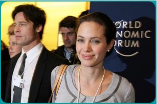 Brad Pitt and Angelina Jolie at the World Economic Forum