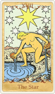 The Star Tarot Card based on Rider-Waite