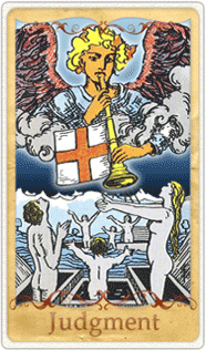The Judgment Tarot Card based on Rider-Waite