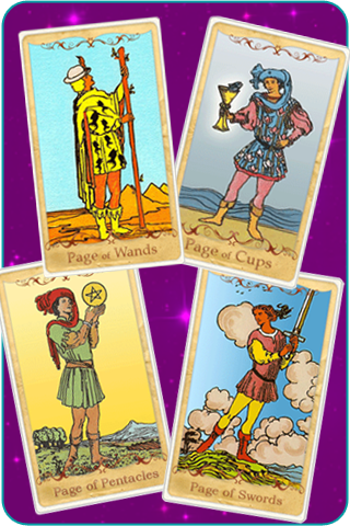 the page cards of the tarot