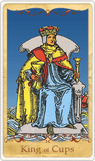 The King of Cups Tarot Card based on Rider-Waite