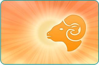 Illustration of Capricorn Goat's head over the Sun