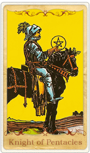 The Knight of Pentacles Tarot Card based on Rider-Waite