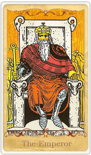 The Emperor Tarot Card based on Rider-Waite